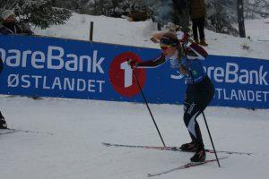 Karen Myklebust på en hederlig 10. plass på jr. NM i sprint!