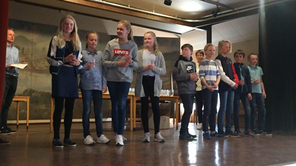 Bilder fra premieutdeling på Høyvang